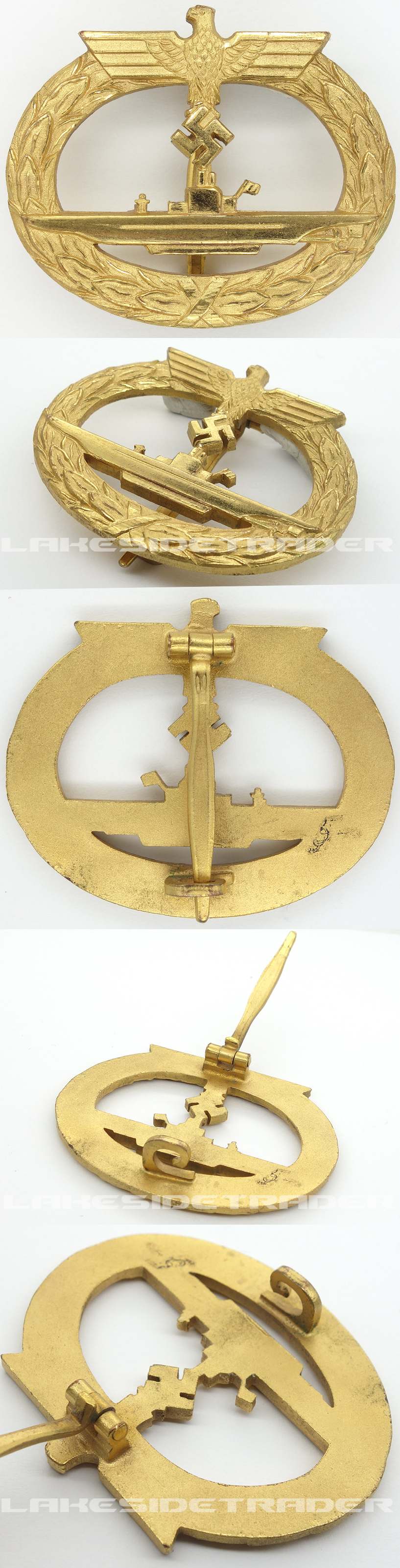 Navy U-Boat Badge by B.H. Mayer