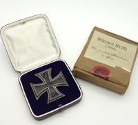 Boxed & Cased Imperial 1st Class Iron Cross by WS
