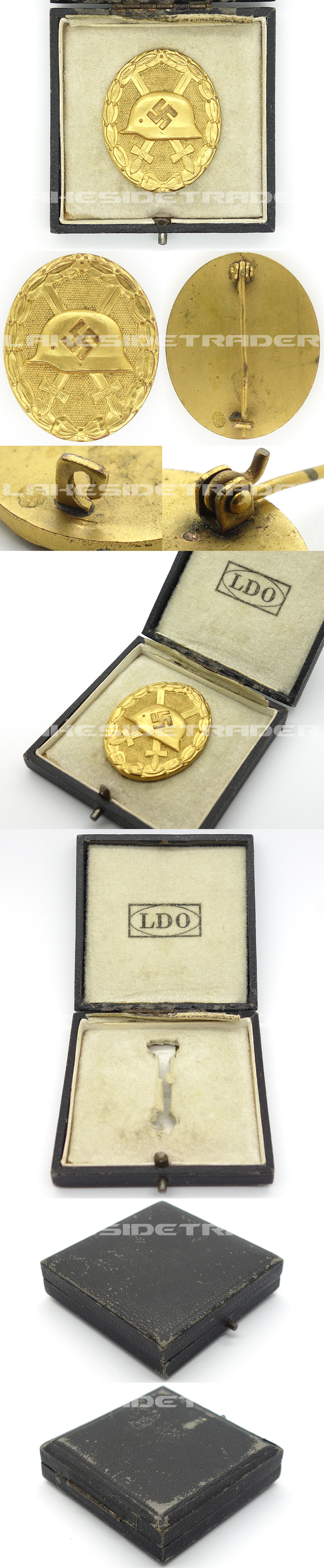 LDO Cased Gold Wound Badge