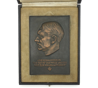 Cased Adolf Hitler Non-Portable Wall Plaque