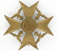 Bronze Spanish Cross by P. Meybauer