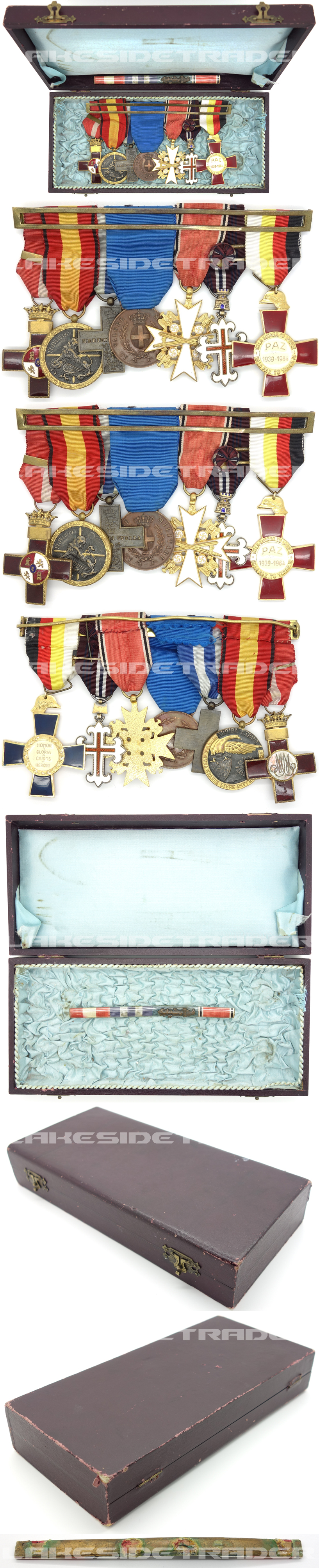 A Spanish Civil War 7 piece Medal Bar