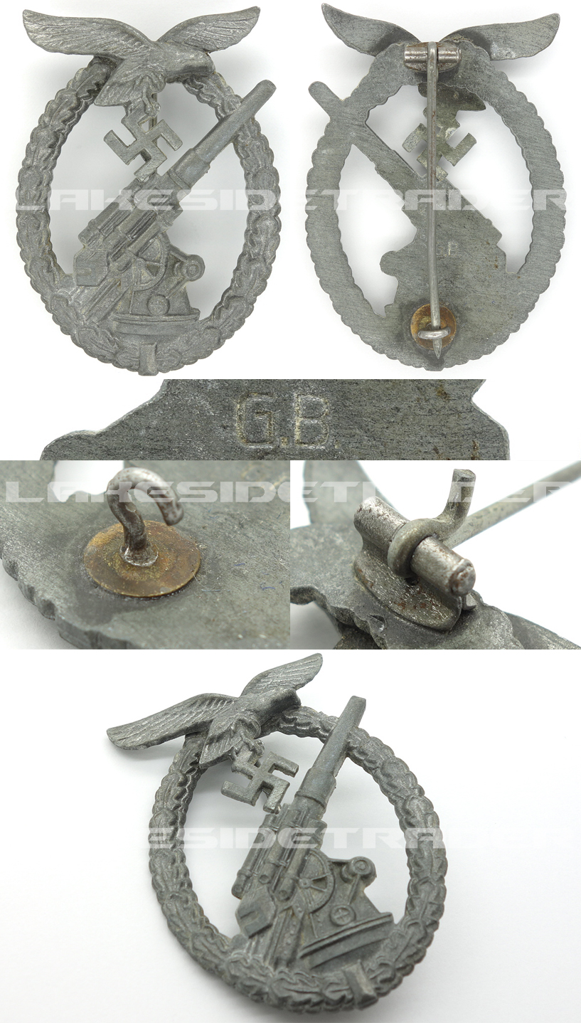 Luftwaffe Flak Badge by G. Brehmer