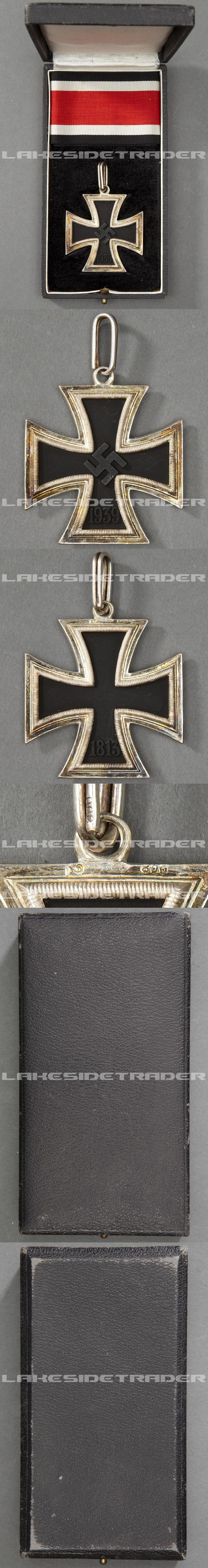 "Cased ""Lazy 2"" Knights Cross of the Iron Cross by C.E. Juncker"