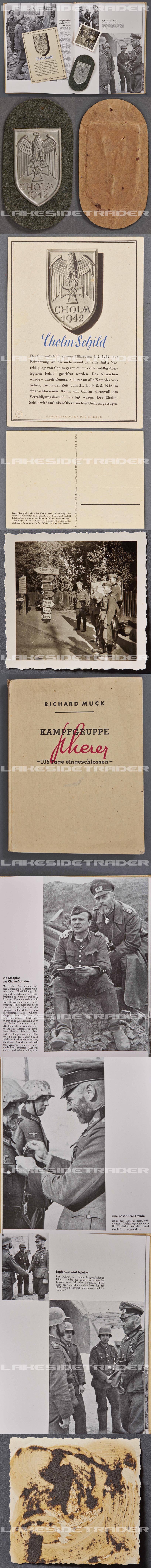 Cholm Shield, Postcard, Photo & Presentation Book 1943