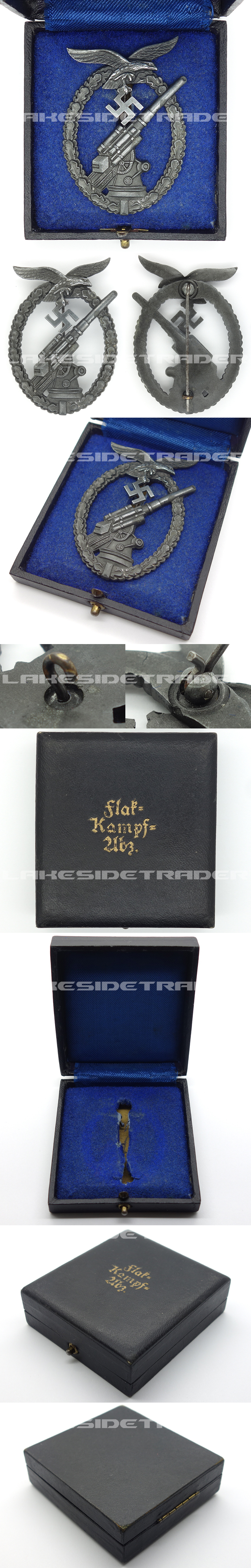 """Cased Luftwaffe """"Ball Hinge"""" Flak Badge by A.S."""