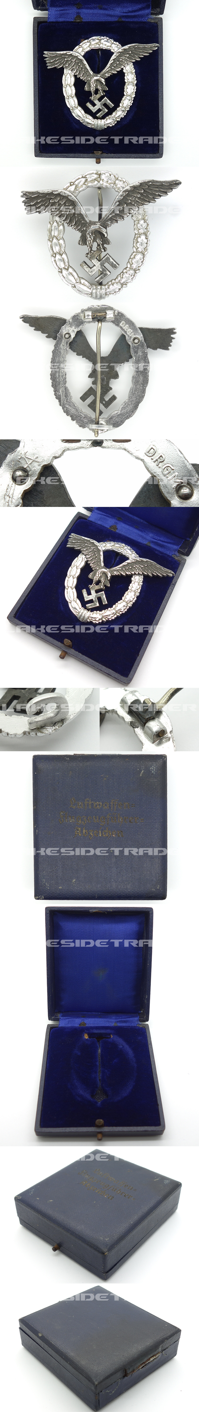 Cased Luftwaffe Pilot Badge by Assmann