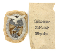 Luftwaffe Ground Assault Badge in Issue Packet by Hammer & Söhne