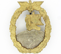 Auxiliary Cruiser War Badge by Juncker