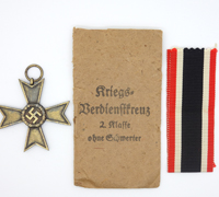 War Merit Cross 2nd Class w/o Swords in Issue Packet