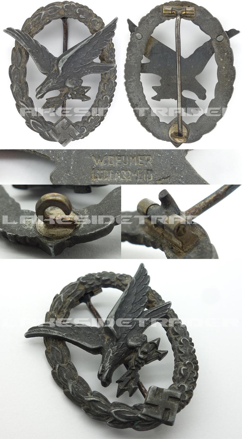 Radio Operation/Air Gunner Badge by W. Deumer