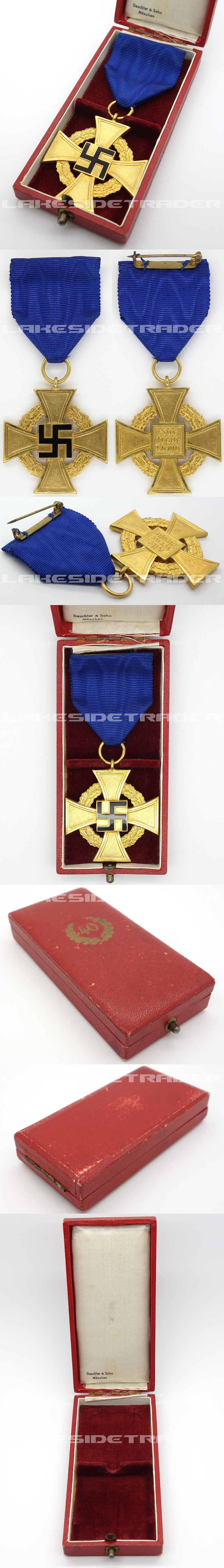 Cased 40 Year Faithful Service Cross