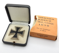Issue Carton - Cased 1st Class Iron Cross by F. Orth