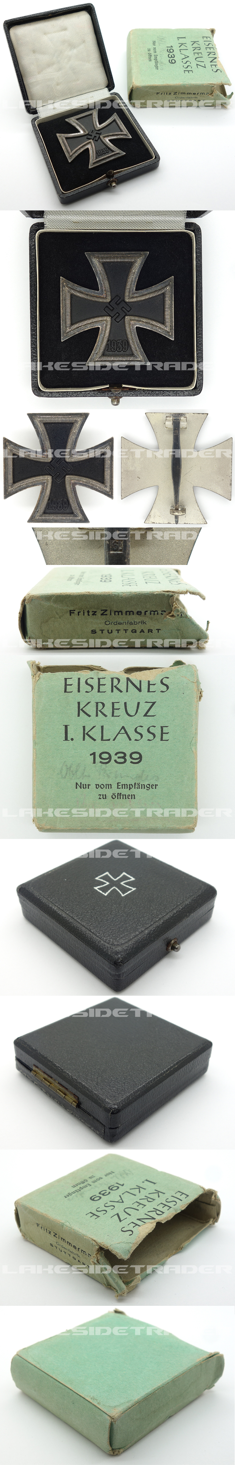Issue Carton - Cased 1st Class Iron Cross by Zimmermann