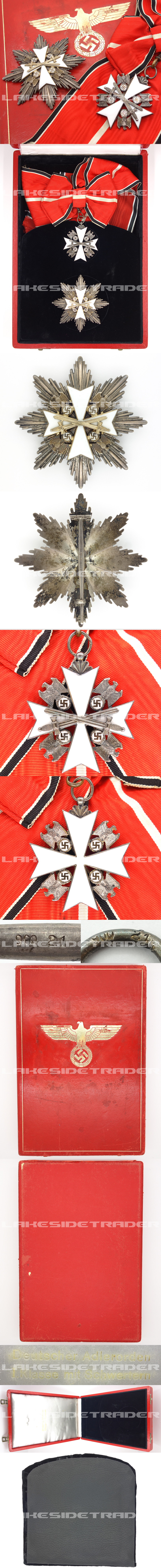 Cased 1st Class Order of the German Eagle with Swords by Godet