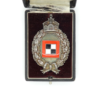 Cased Imperial Prussian Observer Badge by Juncker