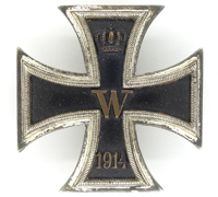 Imperial 1st Class Iron Cross by W. Deumer