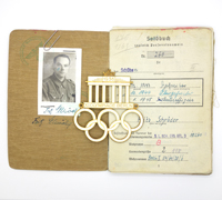 F. Schröders Olympic Auto Plaque, Soldbuch & Document Group