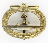 U-Boat Badge by Wilhelm Deumer