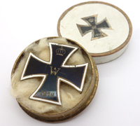 Cased Imperial 1st Class Iron Cross Enamel Pin