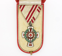Austrian 2nd Class Red Cross Decoration with War Decoration