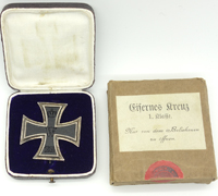 Boxed & Cased Imperial 1st Class Iron Cross by K.A.G.