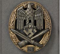 A General Assault Badge; Grade III (50) by Rudolf Karneth Badge