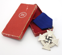 Cased 25 Year Faithful Service Cross