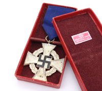 Cased 25 Year Faithful Service Cross