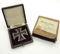 Boxed & Cased Imperial 1st Class Iron Cross by Godet