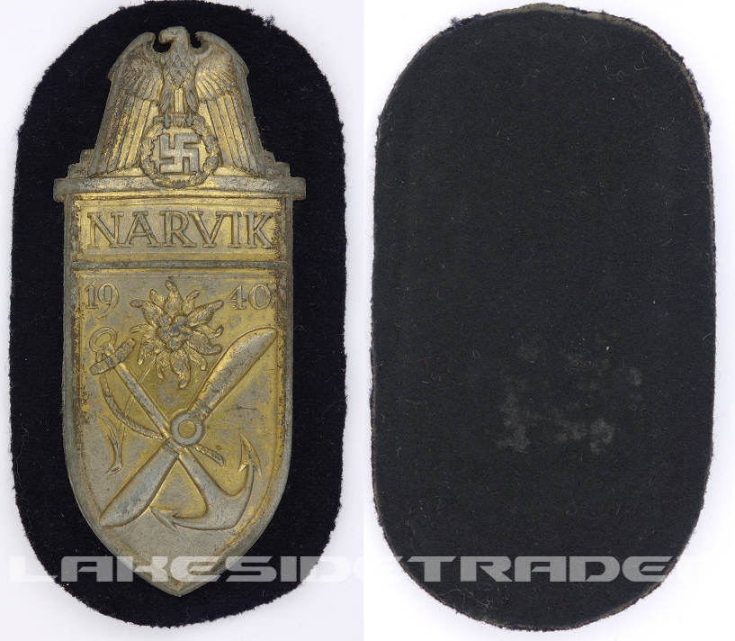 Navy Gold Narvik Shield