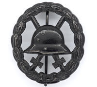 Imperial Cut-Out Black Wound Badge