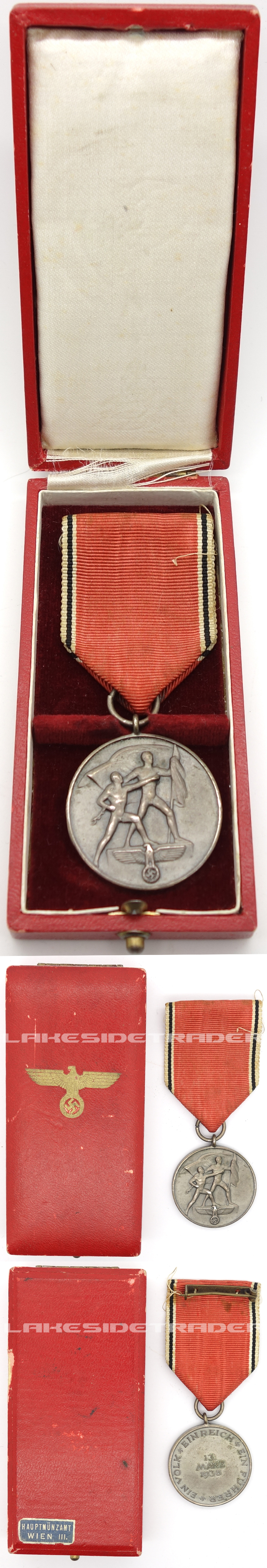 Cased Anschluss Commemorative Medal by Hauptmunzamt