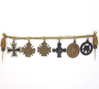 Six place Bavarian Medal bar Miniature for Civilian Dress