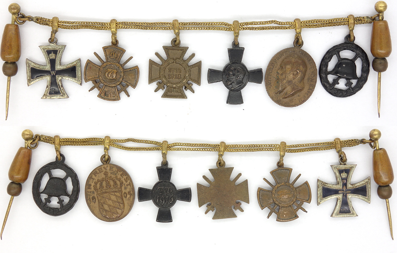 Six place Bavarian Medal bar Miniature for Civilian Dress