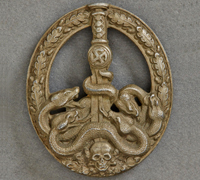 Anti-Partisan Badge in Bronze by C. E. Juncker