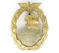 Navy Auxiliary Cruiser War Badge by Juncker