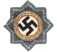 Army Cloth German Cross in Gold by H. Schmuck