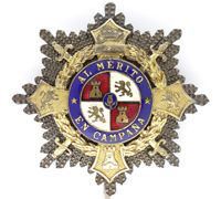 Spanish War Cross - Breast Star