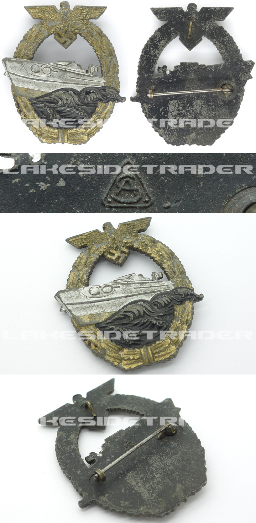 Navy S-Boat Badge by A.S.