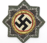 Army Cloth German Cross in Gold