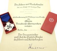 Cased 25 Year Faithful Service with Award Document