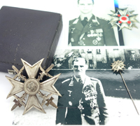 Ofw. Martin Hähle – Spanish Cross in Silver and Stickpin by L/13