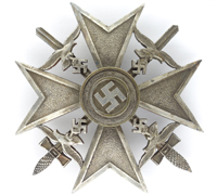 Silver Spanish Cross with Swords by L/15