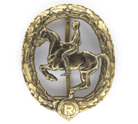 3rd Class Bronze Equestrian Badge by Chr. Lauer