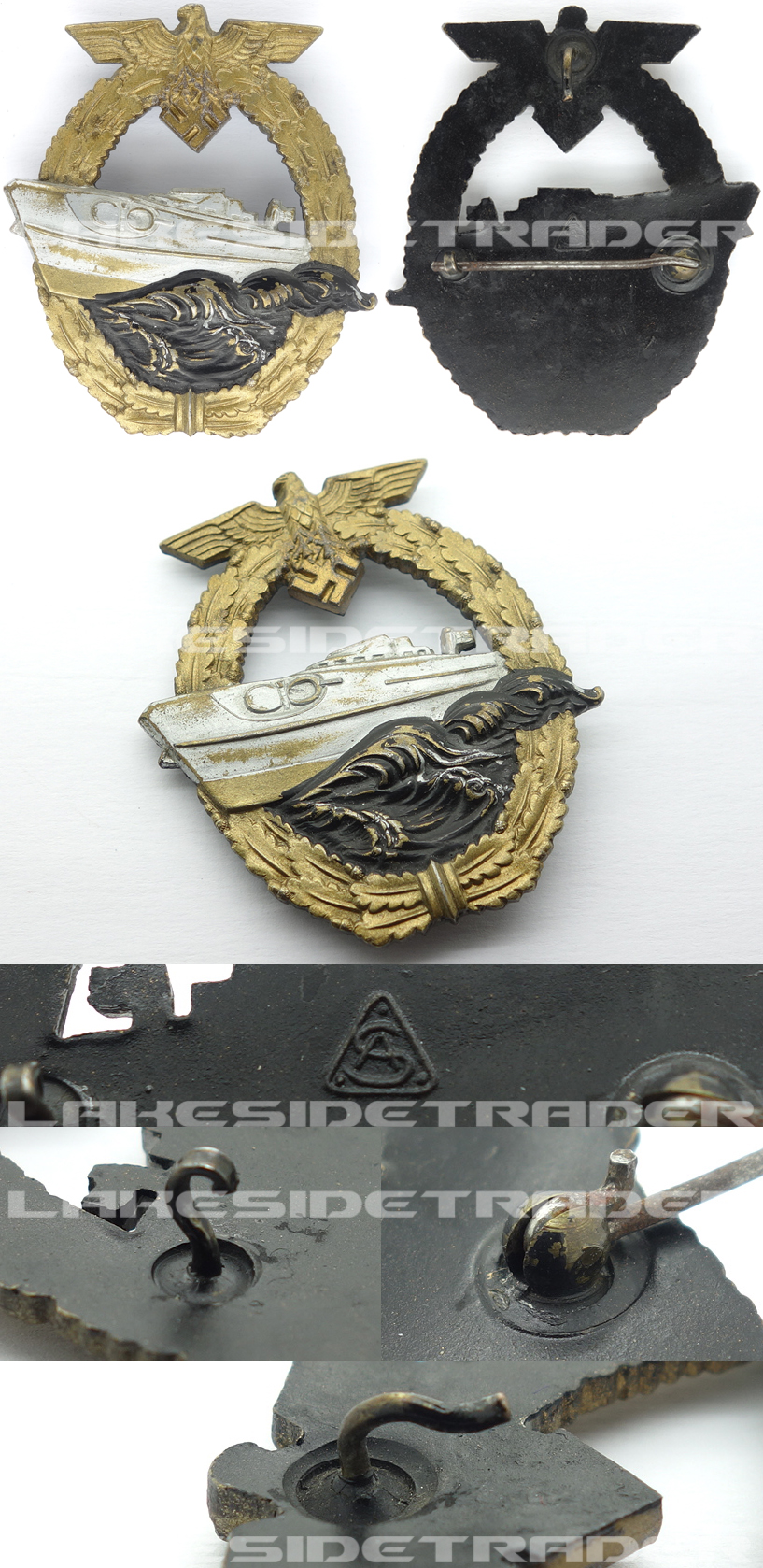 2nd Pattern S-Boat Badge by Adolf Scholze