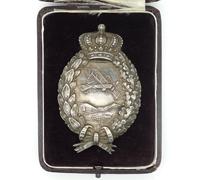Cased Bavarian Pilot Badge by Carl Poellath