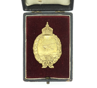 Cased Imperial Prussian Naval Land Pilot's Badge by Juncker