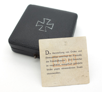 Issue Case for a 1st Class Iron Cross w LDO Insert