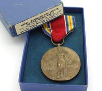 Cased US World War II Victory Medal